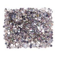1000pcs Nail Diamanti di cristallo multi colore Flatback brillante resina rotonda con strass perline 4mm decorazioni di arte del chiodo