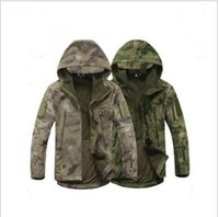 Wholesale Shark Shell Jacket - Lurker Shark Skin Soft Shell V4 Outdoors Military Tactical Jacket Men Waterproof Windproof Coat Hunt Camouflage Army Clothing