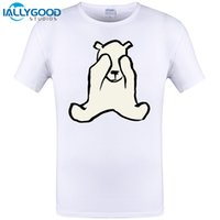 Wholesale T Polar - BASHFUL Polar Bear Funny Design Mens T shirt Summer Short Sleeve Tops Cool Brand Clothing Hip Hop Tops Hipster Tee S-6XL