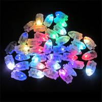ingrosso lanterne di carta blu-50pcs / lot bianco LED luci a palloncino per lanterna di carta palloncino blu chiaro bianco caldo mini lampade per la decorazione della festa nuziale 0708159