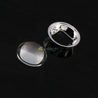 Wholesale Glass Reflectors Lights - Wholesale-Freeshipping! 44MM LED Optical Glass Convex lens Projector Reflector 5-90 degree +50mm Lens Holder for 100W LED Lamp Light