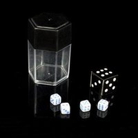 plastic stage bomb - Dice Bomb Blue Spot Dice Dice magic novelties close up stage magic