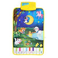 Wholesale Girl Playing - Baby Musical Cartoon Animal Play Mat Language Learning Toy Baby Music Carpet Baby Music Mat Educational Kids Child Piano Music