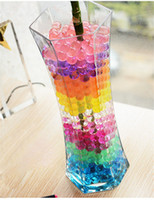 Vente en gros 50Bags / Lot Jelly Crystal Mud Colorful Soil Magique Water Balls Beads Flower Plant 5g / bag