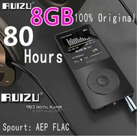 Wholesale Black Clock Radio - 100% Original RUIZU X02 MP3 Player With 1.8 Inch Screen Can Play 100 hours, 8gb With FM,E-Book,Clock,Data