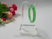accessoires d'affichage acrylique achat en gros de-une pièce Super Clair Acrylique Bijoux Affichage Props Bracelet Chaîne Stand Rack pour Bracelet Titulaire Plateau avec Cintre livraison gratuite