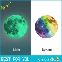 Wholesale Luminous Night Moon Wall Sticker Glow in the Dark Great Gift and wall stickers for kids rooms for kids rooms or poster