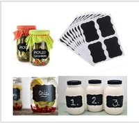 8pcs / lot Blackboard Sticker Craft Kitchen Jar Organizer Labels Chalkboard Chalk Board Stickers Noir