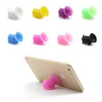 Wholesale Iphone 4s Ear Phones - Cute Pig Shape Phone Holder Universal Mount Stand for IPhone 7 7plus 6 5S 5C 5 4S 4 Samsung Galaxy with Silicon Plastic Ear Dust 100pcs lot