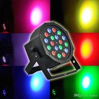 Wholesale Dmx512 Disco - 54W 18X3W Led Par Lights RGB Stage Lighting DMX512 Led Lights For Party KTV Disco DJ Lighting AC 85-265V