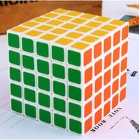 Wholesale 5X5X5 Magic ABS Ultra smooth Professional Speed Cube Puzzle Twist Smooth PVC Paster x6 x6 cm CCA6836