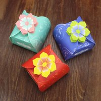 Wholesale Luxury Favor Candy - 50Pcs New luxury Gift Bag Candy box Cases Wedding Favor Candy Box Wedding Party Favor Box.
