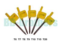 Wholesale Open Spanner - S2 Screwdriver T6 T7 T8 T9 T10 T15 T20 Yellow Flag Torx Key Screwdrivers Spanner Open Tools 200pcs lot