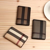 Wholesale Pvc Credit Card Holder - 2016 New Men's Fashion Classic Geometry Fold Design Casual Credit Card ID Holder Hiqh Quality Ultra Slim Wallet For Mans Womans