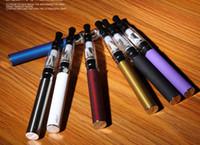 vapor de cigarros azuis venda por atacado-Cigarro eletrônico, Cigarro eletrônico do vapor, 2019 novos cigarros eletrônicos de atomização do vapor, branco, preto, tira, dourado, azul, vermelho, arco-íris,