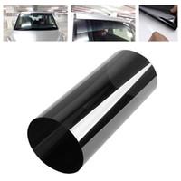 Wholesale window shade film - Wholesale- Hawksoar Black 20cm x 150cm Car Window Solar Protection Film Windshield Sun Shade Auto Window Car Stickers 99 % Anti-UV rate