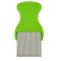 Wholesale Lice Comb Wholesalers - Flea Comb Cootie Stainless Steel Lice Comb for Children Flea Combs