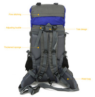 Free Knight FK008 Outdoor 60L Nylon Water Resistant Zaino Alpinismo Arrampicata Escursioni in bicicletta Adventuring Bag