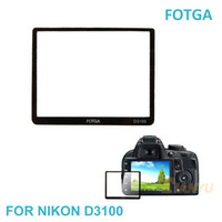 Wholesale optical glass protector - Wholesale-Fotga Camera LCD Screen Protector Optical Tempered Glass Panel Film Protective Guard Waterproof Cover For  D3100