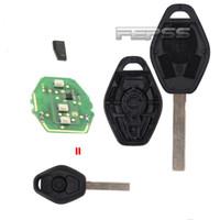 anahtarsız giriş değiştirme fobı toptan satış-Yedek Anahtarsız giriş Araba Uzaktan Anahtar Fob 315/434 MHz Çip ID44 ile E81 E46 E39 E63 E38 E83 E53 E36 E85 Kesilmemiş Bıçak HU92