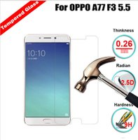 Wholesale Oppo Screen - Premium Tempered Glass Screen Protector For OPPO F1 Plus F1S F3 Plus A77 Toughened Protective Film With Retail Package
