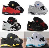 Wholesale Fusion Sports - 2016 Wholesale air retro 14 XIV man basketball shoes Fusion Purple Black Red Retro Playoffs 14 sneakers sports shoes Free shipping Eur 41-47
