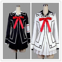 yuki dresses al por mayor-Venta al por mayor-Venta especial Vampire Knight Yuki Cross Black or white Dress Cosplay Costume Uniform