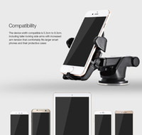 Wholesale Adjustable Step - Universal 180 Degree One Touch Car Mount Phone Holder Adjustable for iPhone 6 6s 7 note 8 Samsung Huawei HTC One Step 210634401