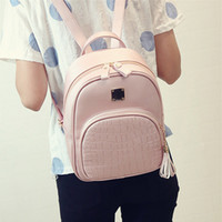 Wholesale New Fashion Bolsas - New Fashion Women Backpacks Women's PU Leather Backpacks Girl School Bag High Quality Ladies Bags Designer Bolsas