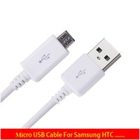 Wholesale S4 Note2 - Best Quality Black & White Universal Micro USB Connector Data Sync Charger Cable For Samsung S6 S5 S4 S3 S2 Note2 & HTC Android CellPhones