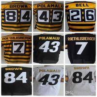 Wholesale red bells - Men's Elite 84 Antonio Brown jersey 43 Troy Polamalu 26 leveon bell 7 Ben Roethlisberger jersey