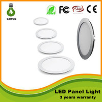 Wholesale Led Ceiling Grid - Ultra Thin Design 6W 9W 12W 15W 18W 21W 24W 30W LED Slim Ceiling Panel Light Recessed Grid Downlight Round Indoor lights AC110-265V