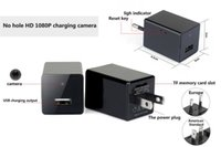 Wholesale Mini Camera Usb Wireless Dvr - 1080P HD Wireless Spy Camera Wifi EU US AC Adapter Hidden Camera Plug USB Phone Charger Spy Cam H.264 Mini Camcorder Pinhole DVR DV