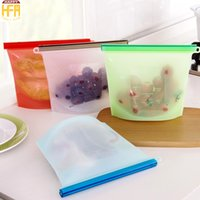 Wholesale Frozen Foods Bags - Silicone Vacuum Seal Storage Bags Food Bag Frozen Food Storage Bags Fruits Fridge Freezer Bag Mixed Color Kitchen Use Wholesale