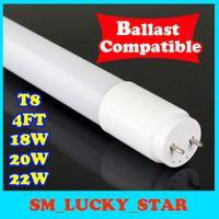 Wholesale T8 18 Led Tube - ballast compatible t8 led 4ft led tube 4 foot led light 18 20 22w 4ft led tube cooler lights x25