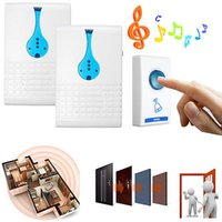 Wholesale Digital Remote Control Doorbell - 32 Musical Music Chimes 100M Range Remote Control AC Wireless Doorbell Digital Door Bell Set 1 Remote Control 2 Receivers Doorbells Chime