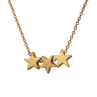 Wholesale Three Circles Pendant - Dogeared Hot Sale Three Wishes Triple Floating Slide Star Pendant Necklace Clavicle Chains Fashion Statement Necklace Women With Card