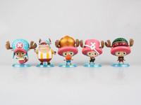 Wholesale Chopper Pvc Tony - 5pcs set One Piece Tony Tony Chopper Figuarts Zero Boxed Action Figures PVC Anime Toys Japanese Cartoon Doll Toys