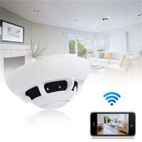 Wholesale Surveillance Cameras Smoke Detectors - 32GB 720P Spy Smoke Detector DVR WiFi Wireless IP Camera Hidden Cam Nanny Camera Video Recorder Home Security Surveillance Camcorders