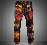 Wholesale Linen Drawstring Pants - New fashion 2016 Hawaiian comfortable leisure brand high quality men pants size M - 5 xl casual mens joggers