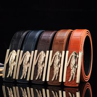 Wholesale Coloured Belts Leather - Hot Sales High Quality Mens Belts 2016 New Casual Smooth Buckle Men's Belt Casual Fashion Leather Belt 5 Colour Length 115CM Free Shipping