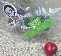 Wholesale pyramid bags - New Arrive 100 Pcs Lot 5.8*7cm Pyramid Tea Bags Filters Nylon TeaBag Single String With Label Transparent Empty Tea Bags
