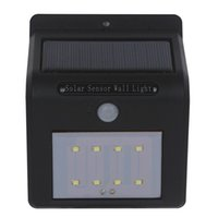 Wholesale wireless security sensors for sale - Shipping via DHL LED solar wall light Wireless PIR Motion Sensor Light Outdoor Garden Landscape Yard Lawn Security Wall Lamp