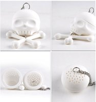 Wholesale Vintage Tea Strainers - 2016 Creative Bones Skull Tea Strainer Balls Silicone Tea Infuser Filter Vintage Tea Accessories kitchen tools kitchen accessories