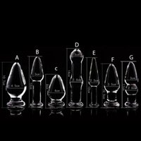 Wholesale 1PCS Glass Anal Dildo Butt Plug Anal Beads Erotic Sex Toy for Women Adult Products for Couples Crystal Glass Anal Stimulator