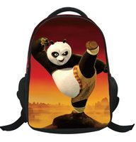 Wholesale Kung Fu Bags - Wholesale Kung Fu Panda Pattern Cartoon Student Backpack Children Pupil Kid School Bag Boy Girl Bags Nylon Bookbag Bag KBB065