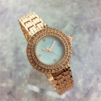 ingrosso modello di lusso sexy-Nuovo modello Diamond Dial Face Donna orologio strass infermiera Bracciale in acciaio Catena Lady Orologio da polso Spedizione gratuita Ragazze regalo di lusso in oro rosa Sexy