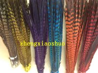 Wholesale inch Black orange hot pink Purple Royal blue RED Turquoise Green ringneck Pheasant Tail Feathers