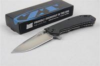 Wholesale Cheap Tactical - 2016 New Arrival Cheap ZT0566 Black G10 Handle Flipper Folding Knife D2 60HRC Satin Blalde Outdoor Survival Folding Knife Knives
