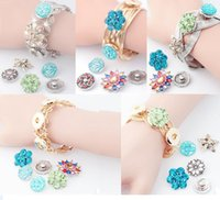 Wholesale Wholesale Chic Style Jewelry - chic NOOSA Snap Button Charm Bracelet bangle fit for noosa chunks button DIY girls gift Interchangeable button Jewelry 5 styles